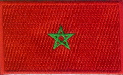 "Morroco Flag Patch 1.5"" x 2.5"""