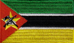 "Mozambique Flag Patch 1.5"" x 2.5"""