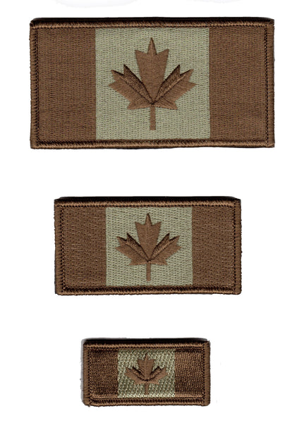 Canada Flag Patch Brown / Coyote / Universal Subdued Design