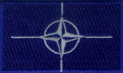 "NATO / North Atlantic Treaty Organization Flag Patch 1.5"" x 2.5"""
