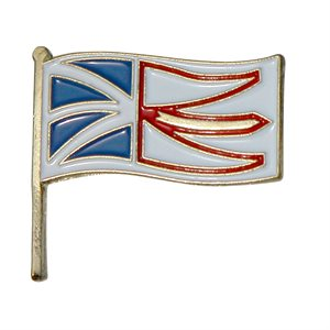 Newfoundland and Labrador Flag Lapel / Hat Pin 7/8""