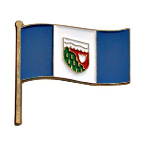 NorthWest Territories Flag Lapel / Hat Pin 7/8""