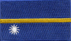 "Nauru Flag Patch 1.5"" x 2.5"""