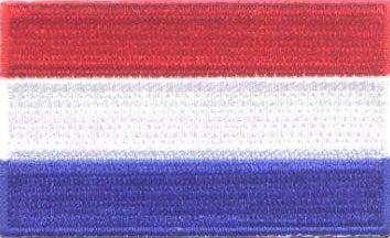 "Netherlands / Holland Flag Patch 1.5"" x 2.5"""