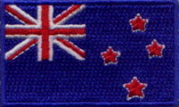 "New Zealand Flag Patch 1.5"" x 2.5"""