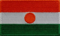 "Niger Flag Patch 1.5"" x 2.5"""