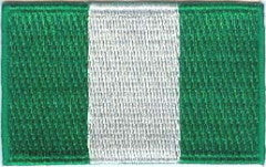 "Nigeria Flag Patch 1.5"" x 2.5"""