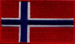 "Norway Flag Patch 1.5"" x 2.5"""