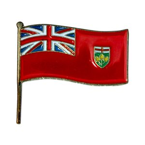 Ontario Flag Lapel / Hat Pin 7/8""