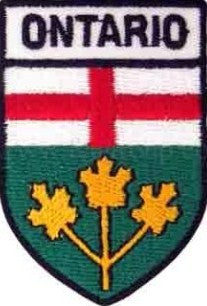 "Ontario Shield Patch 2.5"" x 1.5"""