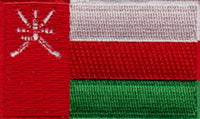 "Oman Flag Patch 1.5"" x 2.5"""