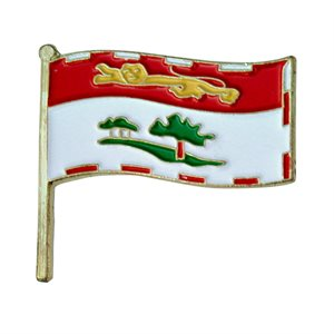 Prince Edward Island / PEI Flag Lapel / Hat Pin 7/8""