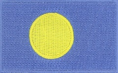 "Palau Flag Patch 1.5"" x 2.5"""