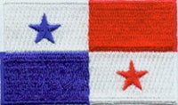 "Panama Flag Patch 1.5"" x 2.5"""