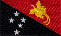 "Papua New Guinea Flag Patch 1.5"" x 2.5"""