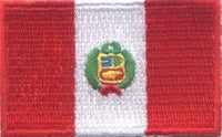 "Peru Flag Patch 1.5"" x 2.5"""