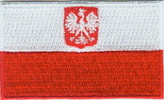 "Poland (Eagle) Flag Patch 1.5"" x 2.5"""