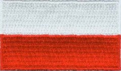 "Poland Flag Patch 1.5"" x 2.5"""