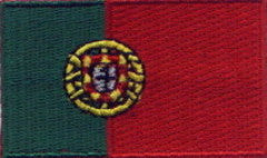 "Portugal Flag Patch 1.5"" x 2.5"""