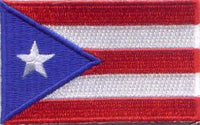 "Puerto Rico Flag Patch 1.5"" x 2.5"""