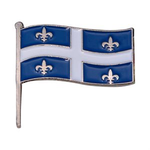 Quebec Flag Lapel / Hat Pin 7/8""