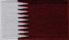 "Qatar Flag Patch 1.5"" x 2.5"""