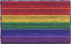 "Rainbow / Pride Flag Patch 1.5"" x 2.5"""