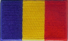 "Romania Flag Patch 1.5"" x 2.5"""