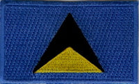 "Saint Lucia Flag Patch 1.5"" x 2.5"""