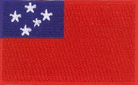 "Samoa (Western) Flag Patch 1.5"" x 2.5"""