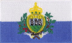 "San Marino Flag Patch 1.5"" x 2.5"""