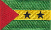 "São Tomé and Príncipe Flag Patch 1.5"" x 2.5"""