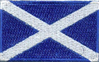 "Scotland / St. Andrew's Cross Flag Patch 1.5"" x 2.5"""