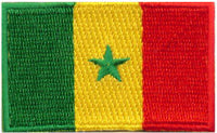 "Senegal Flag Patch 1.5"" x 2.5"""