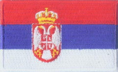 "Serbia Flag Patch 1.5"" x 2.5"""