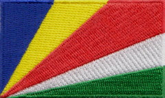 "Seychelles Flag Patch 1.5"" x 2.5"""