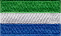 "Sierra Leone Flag Patch 1.5"" x 2.5"""