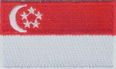 "Singapore Flag Patch 1.5"" x 2.5"""