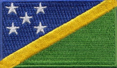 "Solomon Islands Flag Patch 1.5"" x 2.5"""