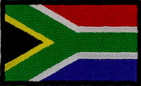 "South Africa Flag Patch 1.5"" x 2.5"""