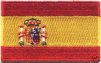 "Spain Flag Patch 1.5"" x 2.5"""