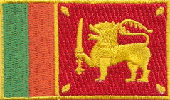 "Sri Lanka Flag Patch 1.5"" x 2.5"""
