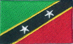 "St. Kitts and Nevis Flag Patch 1.5"" x 2.5"""