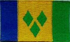 "St. Vincent and the Grenadines Flag Patch 1.5"" x 2.5"""