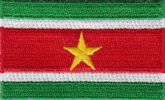 "Suriname Flag Patch 1.5"" x 2.5"""