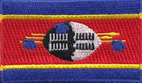 "Swaziland Flag Patch 1.5"" x 2.5"""