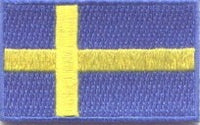 "Sweden Flag Patch 1.5"" x 2.5"""