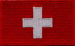 "Switzerland Flag Patch 1.5"" x 2.5"""