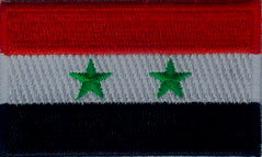 "Syria Flag Patch 1.5"" x 2.5"""