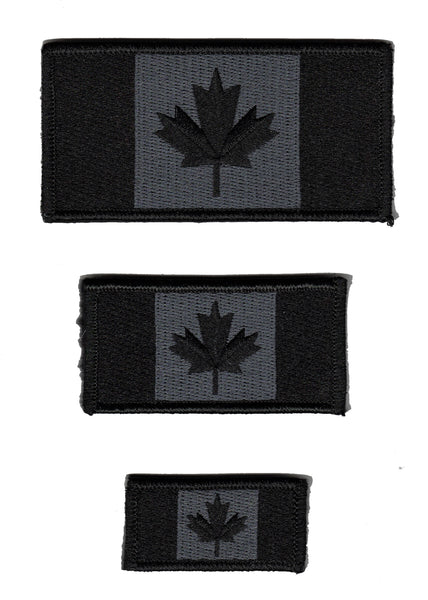 Canada Flag Patch Black / Tactical / Special Ops Subdued Design